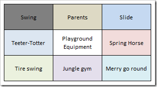 Lotus Blossom Technique: Playground Equipment Example Main