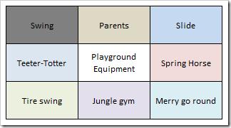 Lotus Blossom Technique: Playground Equipment Example Main